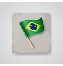 Brazil flag icon vector image