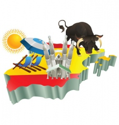 Spanish tourist attractions vector image