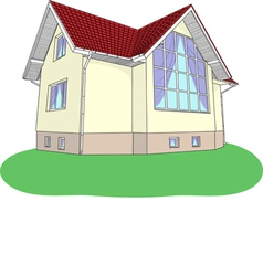 house2 vector image