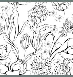 Monochrome seamless wallpaper vector