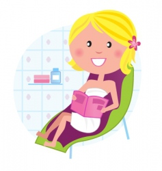 Wellness  spa relaxing woman vector