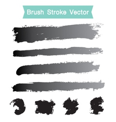 Set of grunge brush stroke vector