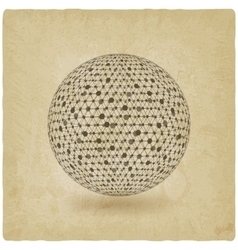 Sphere network old background vector