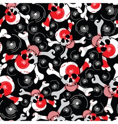 Skulls background vector