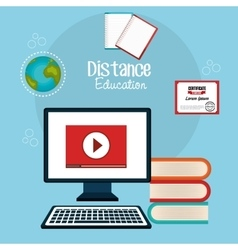 Distance education design vector