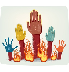 Voting fire hands vector