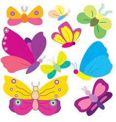 Various butterflies vector