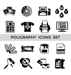 Cmyk black icon set vector