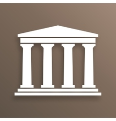Architecture greek symbol vector image