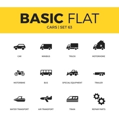 Basic set of car icons vector