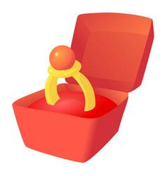 Box ring icon cartoon style vector