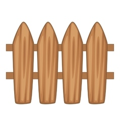Brown wooden picket fence icon cartoon style vector image