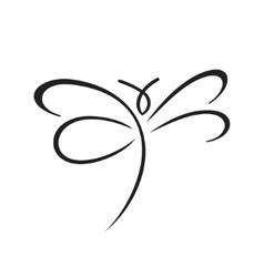Butterfly sign vector