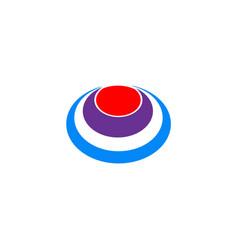 circle ovale eye logo vector image