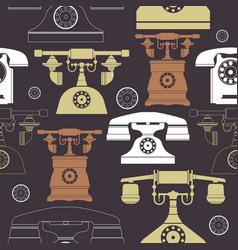 colorful vintage phone pattern vector image