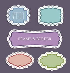 decoration frame vector image