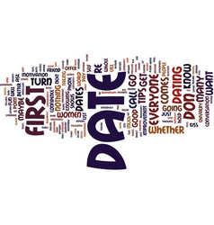 First date tips and tricks text background word vector