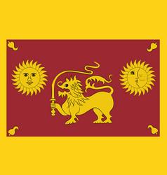 Flag of sabaragamuwa province of sri lanka vector