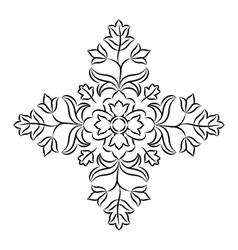 Floral Mandala Stencil vector image vector image