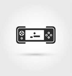 Gamepad template icon design element vector