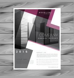 Geometric brochure flyer design template vector