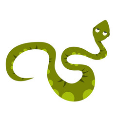 Green spotted snake icon isolated vector