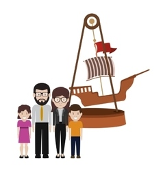 happy family design vector image