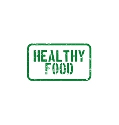 Healthy food label vector image vector image