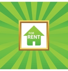 House for rent picture icon vector