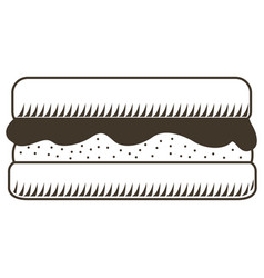 isolated sandwich sketch vector image vector image
