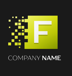 letter f logo symbol in the colorful square vector image vector image