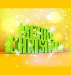Merry christmas green wording vector