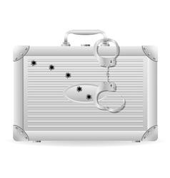 metallic briefcase 03 vector image vector image