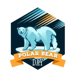 Polar bear day vector