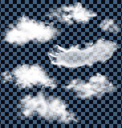 Realistic fluffy clouds vector image