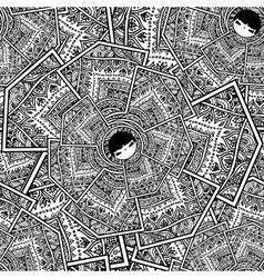 Seamless pattern with Babushka Matryoshka Dolls vector image vector image