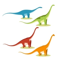 Set of sauropods vector image
