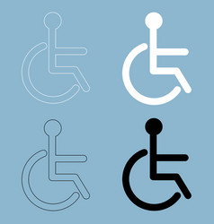 Sign of the disabled the black and white color vector