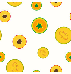 simple fruits pattern - seamless vector image vector image