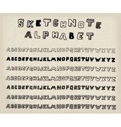 Sketchnote alphabet vector image vector image