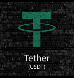 Tether cryptocurrency background vector