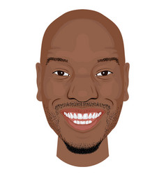 tyrese face icon in flat style vector image