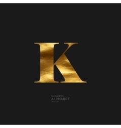 Golden letter K vector image