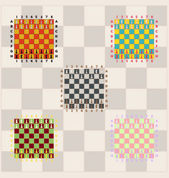 Chess game start collection vector