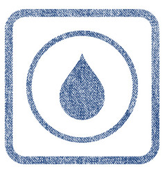 drop fabric textured icon vector image