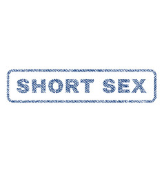 short sex textile stamp vector image