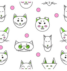 cartoon cats cute funny cats vector image