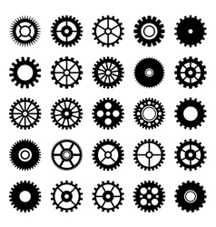 Gear wheel icons set 1 vector