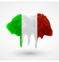 Flag of italy painted colors vector