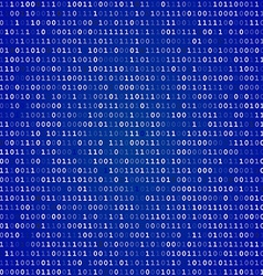 Blue screen binary code screen vector